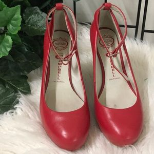 Jeffrey Campbell red wedges